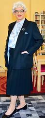 Ingrid021831 (ingrid_bach61) Tags: skirt suit mature pleated kostm faltenrock bowblouse schleifenbluse