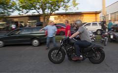 34Harley (B Shree B) Tags: seattle sunset cafe motorcycle ballard racers backfire