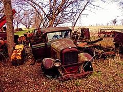 that sinking feeling...(HTT) (BillsExplorations) Tags: old tractor abandoned rural truck vintage rust farm international forgotten discarded ruraldecay relics sinking htt minneapolismoline internationaltruck abandonedillinois truckthursday