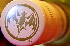 BACARDI (cchana) Tags: white macro logo screw gold bottle bat cap rum bacardi brand printed lid screwcap