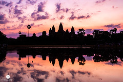 Sunrise at Angkor Wat, Cambodia. (Jess Yu) Tags: world old morning travel vacation sky lake reflection building tower heritage tourism archaeology monument rock stone wall architecture sunrise asian religious temple site ancient ruins worship asia cambodia khmer buddha buddhist famous prayer religion culture buddhism landmark tourist historic siem reap tropical spiritual angkor wat hinduism archeology indochina prohm