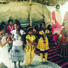 Smile kids dancing during #janmashtami celebration :) (smilefoundationindia) Tags: janmashtami uploaded:by=flickstagram instagram:photo=10664248602360726861593940272
