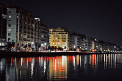 Thessaloniki once again (deppy_kar) Tags: road street city red sea sky seascape reflection water architecture night greek lights town seaside nikon waterfront nightscape greece macedonia citylights thessaloniki nikkor dslr carlights timeless salonica thermaikos macedonian makedonia   d5200  macedoniagreece nikond5200