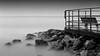Clarity in Silence (josesuro) Tags: longexposure bw film beach landscapes florida piers fineart 4x5 2009 largeformat johnspass acros100 floridagulfcoast rodenstock150mmf56aposironars ebonysv45ti jaspcphotography