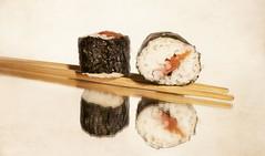 Simple Pleasures - home-made sushi ;o) (Elisafox22 Busy this coming week!) Tags: stilllife food seaweed macro texture kitchen sushi lens rice sony plum homemade nori flavour umeboshi f35 htt simplepleasures e30mm nex6 elisafox22 texturaltuesday elisaliddell2016