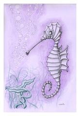 Seahorse (Karwik) Tags: pencil pencils seahorse drawing crayons seahorses konik owek rysunek morski olowek