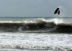 Jet Skier (john atte kiln) Tags: uk sea england fun upsidedown action unitedkingdom britain horizon spray dorset watersports waterdrops poole wetsuit stopped arabesque skilful jetskier