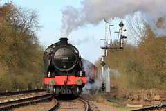 IMG_1126 (harrison-green) Tags: park winter black station train star evening hall track branch britain 5 great central engine railway keith battle class steam western locomotive uboat sir 777 gala swithland rothley 2016 gcr 4p sidings 8f 9f 2mt witherslack montsorrel