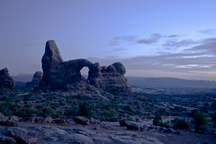 Arches10 (csollitto) Tags: sunset summer landscape nationalpark nikon arch purple arches roadtrip crosscountry redrocks nikkor archesnationalpark turret purplesky 2015 turretarch d5200
