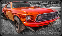 1969 Ford Mustang. (Suggsy69) Tags: red orange classic ford 1969 car nikon classiccar automobile border american vehicle mustang selectivecolour d5200