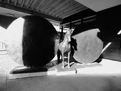 Union (Horse with two discs) (Darren-Holes) Tags: blackandwhite sculpture london museum bronze union christopherlebrun horsewithtwodiscs