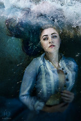 Sink Like A Stone (2) ({jessica drossin}) Tags: ocean blue woman lake water girl stone lady hair photography necklace long dress sink lace wave bubbles jessicadrossin wwwjessicadrossincom jdbeautifulworldcollection