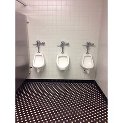 Three is a crowd #urinals #tiles... (snap1shot) Tags: tiles urinals checkered uploaded:by=flickstagram usofc instagram:photo=855746350984415282225614305