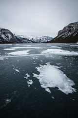 Patches (justin lee photos) Tags: winter lake snow mountains ice nature canon landscape banff jlphotos jlphotosyyc