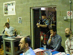 Addressing the Haggis at the Burns celebration event in Bready Jan 2016 (seanfderry-studenna) Tags: county ireland people music irish robert public night movie hall actors video dancing audience theatre candid traditional crowd performance culture scottish dancer celebration indoors event highland musical burns haggis acting poet inside scotch perform piper persons bagpipes tradition northern performers speech robbie address presbyterian cultural clapping scots tartan ulster tyrone commemoration mpeg bready rabbie