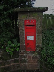 Wetwood ST21 102 VRWB (full view) Staffordshire (Bridgemarker Tim) Tags: shropshire staffordshire services letterboxes postboxes glocester st21