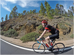 3 (Gumundur Rbert) Tags: red sea sun mountain mountains water training island cycling climb climbing cube tenerife shimano bjartur sram zipp tene c68 gopro litening