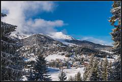 Schweizer Bergdorf (rapp_henry) Tags: schnee winter panorama snow alps landscape schweiz switzerland berge alpine alpen sonnig landschaft wald moutains wintry 2470mm28 nikond800