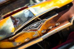 Desoto (ISP Bruno Laplante) Tags: old blue red arizona orange car yellow vintage rust az 66 route ornament chrome rusted hood 1956 scrap desoto hackberry firedome