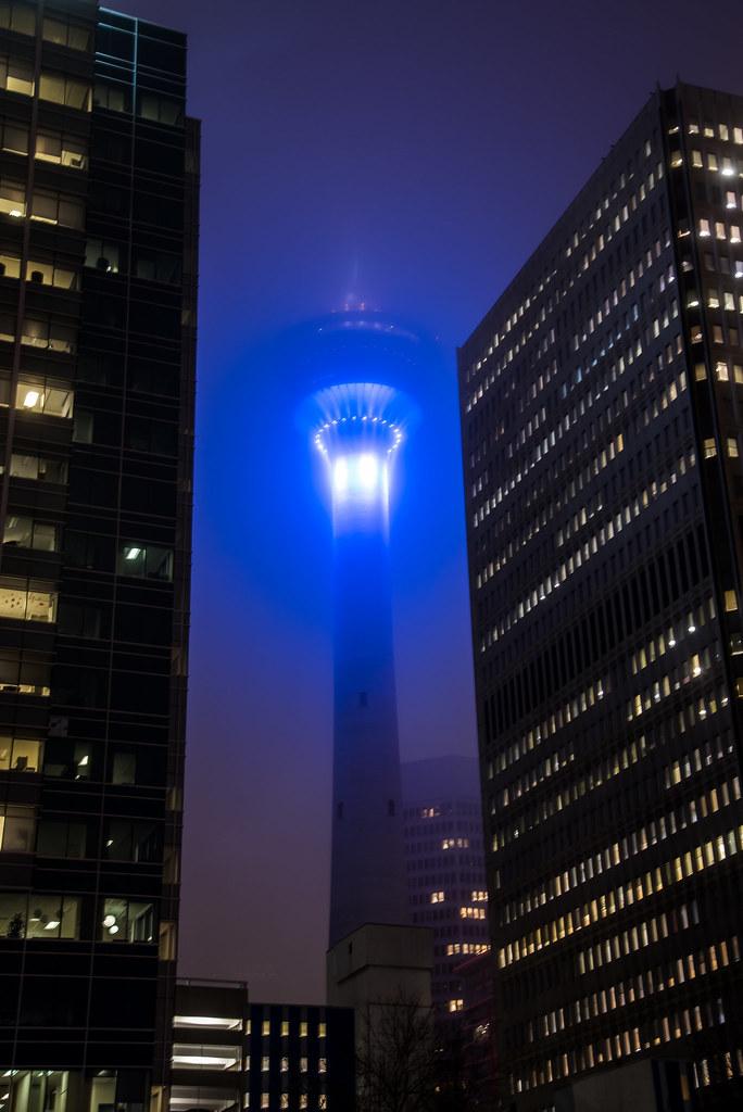 bca3cb518fd0 Calgary Tower in Fog (anoopbrar) Tags  city longexposure winter building  calgary tower nature