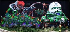 Peor & Spike (HBA_JIJO) Tags: urban streetart france art wall painting skull graffiti artist letters spray peinture writer mur lettres urbex lettring lettrage charactere paris91 hbajijo