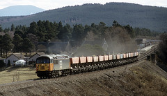 Grid on the Highland 1 (goremirebob) Tags: scotland trains railways carrbridge freighttrain class56 highlandline