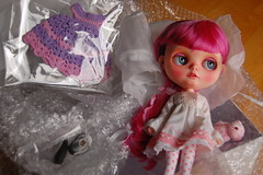 DSC_0074 (Lindy Dolldreams) Tags: new pink girl rose doll custom blythedoll noraooakcustomblythe