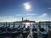 Classic Venice shot! (VillaRhapsody) Tags: venice piazzasanmarco saintmarkssquare boats gondolas gondola water sea sun church blue adriacticsea challengeyouwinner cyunanimous cy2