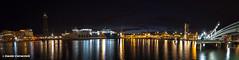 IMG_4849-Pano (davide.clementelli) Tags: mare nave porto luci acqua colori riflessi notte barcellona spagna ramblas scie