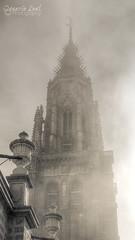 In heaven (ILO DESIGNS) Tags: espaa church monochrome vertical fog architecture spain arquitectura torre cathedral creative catedral iglesia ciudad toledo urbana niebla creativa 2011 monocroma