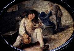IMG_6134 Adriaen Brouwer. 1605-1638. Anvers. Paysan buvant. Peasant drinking. 1634. Francfort Stdelmuseum. (jean louis mazieres) Tags: museum painting muse netherland museo paysbas peintures peintres adriaenbrouwer