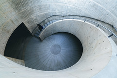 The Eye. (Larren_) Tags: travel people japan museum architecture stairs zeiss spiral concrete stair geometry space sony streetphotography wideangle osaka form hyogo tadaoando a7r2