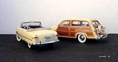1949 Ford Custom Convertible and 1949 Mercury Wood-Bodied Wagon (JCarnutz) Tags: ford mercury 1949 diecast 124scale danburymint woodbodied