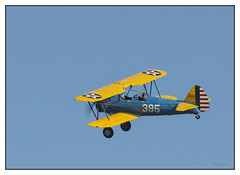 Boeing Stearman N75MR (Francis =Photography=) Tags: france training airplane army us aircraft military strasbourg boeing extrieur militaire avion stearman hlice vhicule propeler biplan fondblanc model75 sigma120400 canon600d aviondentranement bordurephoto boeingstearmann75mr
