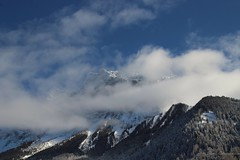 Zugspitze  (2962mtr.) (Tim Ederveen) Tags: sky mountain snow mountains nature clouds germany austria frozen outdoor ehrwald zugspitze zugspitzarena canoneos1200d winter2016 timederveen