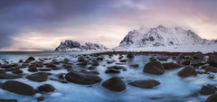 Arctic Beaches (Mark McLeod 80) Tags: ocean snow mountains norway arctic lofoten lofotenislands 2016 markmcleod utakliev markmcleodphotography