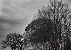 incursions (Stewart485) Tags: england technology places things science jodrellbank impression radiotelescope evocative architectureandbuildings vaguelyarty