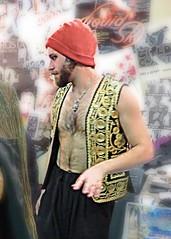 IMG_9263 (danimaniacs) Tags: shirtless man hot cute sexy guy hat beard handsome hunk cap vest precinctdtla