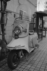 Rabbit Scooter (Tonkatsudog) Tags: leica film japan 35mm tokyo m42 fujifilm neopan 100 f25 m4 acros summaritm filmacrossneopanjanuary2016tokyoleicam42summarit
