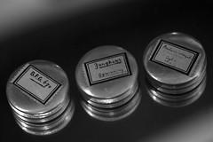 Three of a kind (Elly Snel) Tags: tin boxes blik doosjes scavenger2