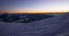 Dawn panorama at Colle Gnifetti (Bernhard_Thum) Tags: dawn wallis thum dufourspitze leicam rockpaper berneralpen zumsteinspitze landscapesdreams distagont1435 bernhardthum distagon3514zm