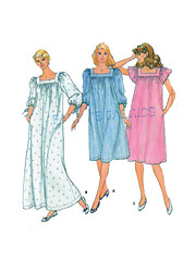 Butterick 4361 Plus Size Nightgown Sewing Pattern (findcraftypatterns) Tags: two square or large womens size 34 1618 muumuu nightgown nightdress sleeves plussize neckline sewingpattern butterick housedress fullfigure lengths 4361 sleeperwear fluttercap