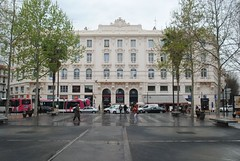 Grand Hotel, Antibes (zawtowers) Tags: vacation holiday france modern square french hotel coast town seaside riviera break place grand du ctedazur historic resort coastal shops gaulle friday overlooking antibes april2016