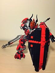Lego Mech Templar (AiyinLiu) Tags: robot lego medieval shield gundam crusader mecha templar spearman afol