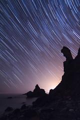 Ecuador Celeste Playas de Maro (alexgsf) Tags: playa nocturna maro startrail circumpolar starstax