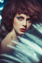 DISCO Style (ravenajuly) Tags: light portrait girl beauty face fashion studio disco model makeup style vogue wig hairstyle twiggy ravenajuly