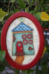 (Kika 2002) Tags: wood red home painting artesanato craft vermelho madeira pintura casinha mdc