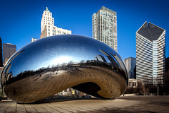 Cloud Gate (TS_1000) Tags: chicago illinois milleniumpark cloudgate anishkapoor mrz bohne bigbean glnzend glanz attplaza