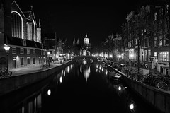 These city walls (McQuaide Photography (Away)) Tags: old city longexposure nightphotography winter light urban blackandwhite bw holland reflection church water netherlands monochrome dutch amsterdam architecture night zeiss vintage outside mono licht canal blackwhite lowlight europe waterfront nacht outdoor sony traditional tripod capital nederland wideangle medieval fullframe alpha residence residential redlightdistrict kerk oud nationalmonument stad authentic oudekerk rld manfrotto noordholland gracht c1 oudezijdsvoorburgwal canalhouse wideanglelens dewallen capitalcity 1635mm northholland a7ii grachtenpand groothoek phaseone variotessar captureone rijksmonument mirrorless sonyzeiss ozvoorburgwal basilicaofsaintnicholas mcquaidephotography ilce7m2 captureonepro9