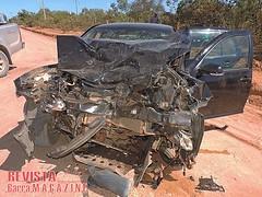 Barreiras: Acidente deixa trs feridos no Anel da Soja (revistabarramagazine) Tags: acidente batida caminhonete barreiras br242 barreirasba estradadocaf oestedabahia tresferidos aneldasoja